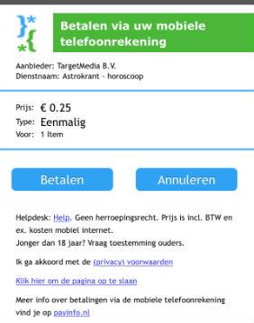 Voorbeeld aanmelding mobiele internet dienst